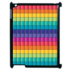 Pattern Grid Squares Texture Apple Ipad 2 Case (black) by Amaryn4rt