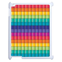 Pattern Grid Squares Texture Apple Ipad 2 Case (white) by Amaryn4rt