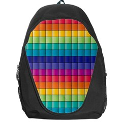 Pattern Grid Squares Texture Backpack Bag by Amaryn4rt