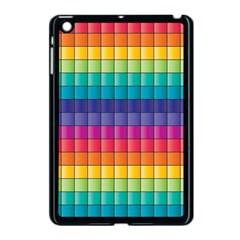 Pattern Grid Squares Texture Apple Ipad Mini Case (black) by Amaryn4rt