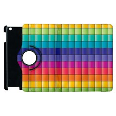 Pattern Grid Squares Texture Apple Ipad 3/4 Flip 360 Case by Amaryn4rt