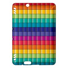 Pattern Grid Squares Texture Kindle Fire Hdx Hardshell Case by Amaryn4rt
