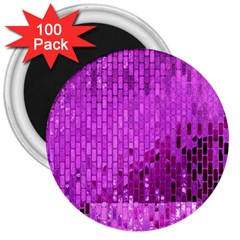Purple Background Scrapbooking Paper 3  Magnets (100 Pack) by Amaryn4rt