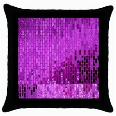 Purple Background Scrapbooking Paper Throw Pillow Case (black) by Amaryn4rt