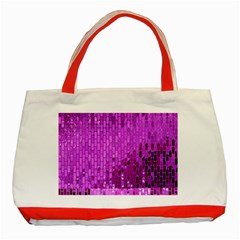 Purple Background Scrapbooking Paper Classic Tote Bag (red) by Amaryn4rt