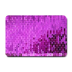 Purple Background Scrapbooking Paper Small Doormat  by Amaryn4rt