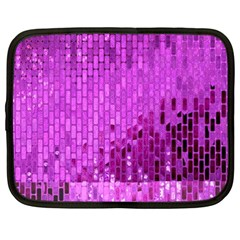 Purple Background Scrapbooking Paper Netbook Case (xxl)  by Amaryn4rt