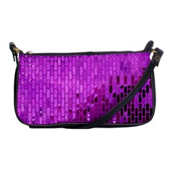 Purple Background Scrapbooking Paper Shoulder Clutch Bags by Amaryn4rt