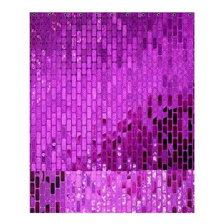 Purple Background Scrapbooking Paper Shower Curtain 60  x 72  (Medium)