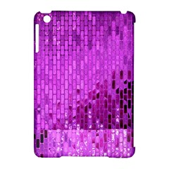 Purple Background Scrapbooking Paper Apple Ipad Mini Hardshell Case (compatible With Smart Cover) by Amaryn4rt