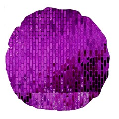 Purple Background Scrapbooking Paper Large 18  Premium Round Cushions by Amaryn4rt