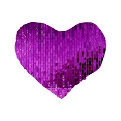 Purple Background Scrapbooking Paper Standard 16  Premium Heart Shape Cushions by Amaryn4rt