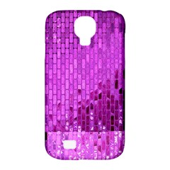 Purple Background Scrapbooking Paper Samsung Galaxy S4 Classic Hardshell Case (pc+silicone) by Amaryn4rt