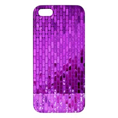 Purple Background Scrapbooking Paper Iphone 5s/ Se Premium Hardshell Case by Amaryn4rt