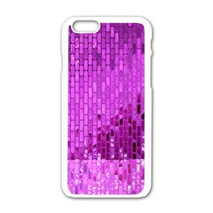 Purple Background Scrapbooking Paper Apple Iphone 6/6s White Enamel Case by Amaryn4rt