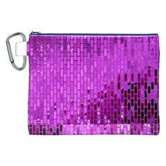 Purple Background Scrapbooking Paper Canvas Cosmetic Bag (xxl)