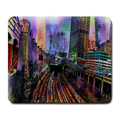 Downtown Chicago Large Mousepads by Amaryn4rt