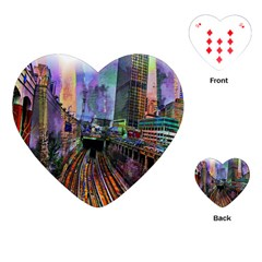 Downtown Chicago Playing Cards (heart)  by Amaryn4rt