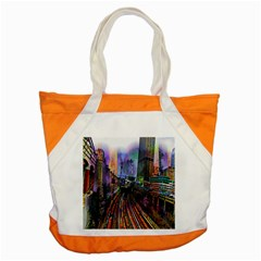 Downtown Chicago Accent Tote Bag by Amaryn4rt
