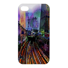 Downtown Chicago Apple Iphone 4/4s Hardshell Case by Amaryn4rt
