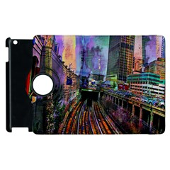 Downtown Chicago Apple Ipad 2 Flip 360 Case by Amaryn4rt