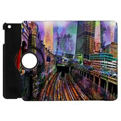 Downtown Chicago Apple Ipad Mini Flip 360 Case by Amaryn4rt