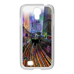 Downtown Chicago Samsung Galaxy S4 I9500/ I9505 Case (white) by Amaryn4rt