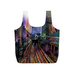 Downtown Chicago Full Print Recycle Bags (s)  by Amaryn4rt