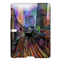 Downtown Chicago Samsung Galaxy Tab S (10 5 ) Hardshell Case  by Amaryn4rt