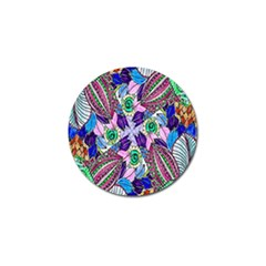 Wallpaper Created From Coloring Book Golf Ball Marker (10 Pack) by Amaryn4rt