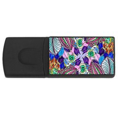 Wallpaper Created From Coloring Book Usb Flash Drive Rectangular (4 Gb) by Amaryn4rt