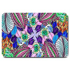 Wallpaper Created From Coloring Book Large Doormat  by Amaryn4rt