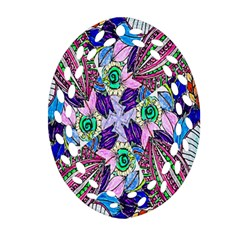 Wallpaper Created From Coloring Book Oval Filigree Ornament (two Sides) by Amaryn4rt