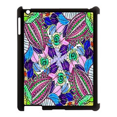 Wallpaper Created From Coloring Book Apple Ipad 3/4 Case (black) by Amaryn4rt