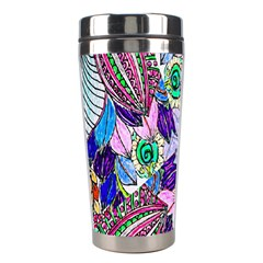 Wallpaper Created From Coloring Book Stainless Steel Travel Tumblers by Amaryn4rt