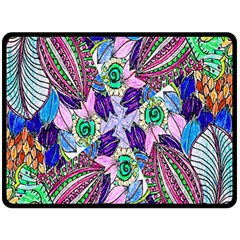 Wallpaper Created From Coloring Book Double Sided Fleece Blanket (large)  by Amaryn4rt