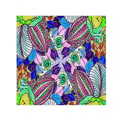 Wallpaper Created From Coloring Book Small Satin Scarf (square) by Amaryn4rt