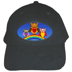 Owls Rainbow Animals Birds Nature Black Cap by Amaryn4rt