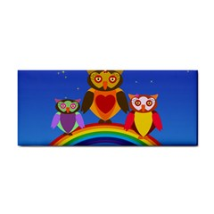 Owls Rainbow Animals Birds Nature Cosmetic Storage Cases by Amaryn4rt