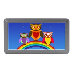 Owls Rainbow Animals Birds Nature Memory Card Reader (mini) by Amaryn4rt