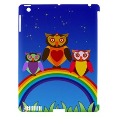 Owls Rainbow Animals Birds Nature Apple Ipad 3/4 Hardshell Case (compatible With Smart Cover) by Amaryn4rt