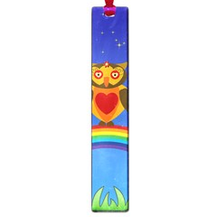 Owls Rainbow Animals Birds Nature Large Book Marks by Amaryn4rt