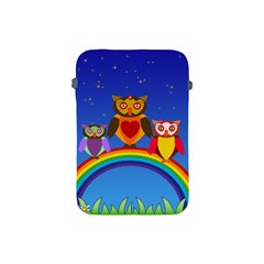 Owls Rainbow Animals Birds Nature Apple Ipad Mini Protective Soft Cases by Amaryn4rt