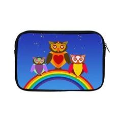 Owls Rainbow Animals Birds Nature Apple Ipad Mini Zipper Cases by Amaryn4rt