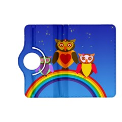 Owls Rainbow Animals Birds Nature Kindle Fire Hd (2013) Flip 360 Case by Amaryn4rt