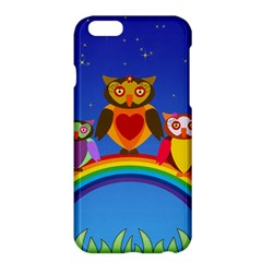 Owls Rainbow Animals Birds Nature Apple Iphone 6 Plus/6s Plus Hardshell Case by Amaryn4rt