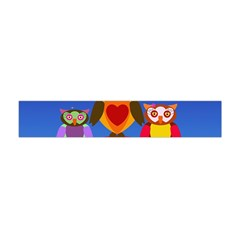 Owls Rainbow Animals Birds Nature Flano Scarf (mini) by Amaryn4rt
