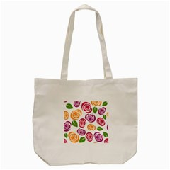 Colorful Seamless Floral Flowers Pattern Wallpaper Background Tote Bag (cream) by Amaryn4rt