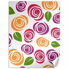 Colorful Seamless Floral Flowers Pattern Wallpaper Background Canvas 12  X 16   by Amaryn4rt