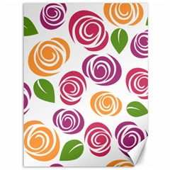 Colorful Seamless Floral Flowers Pattern Wallpaper Background Canvas 36  X 48   by Amaryn4rt